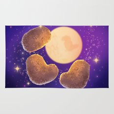 Three Nugget Moon Rug
