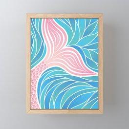Pink Mermaid's Tail Framed Mini Art Print