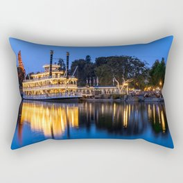 Mark Twain Riverboat Rectangular Pillow