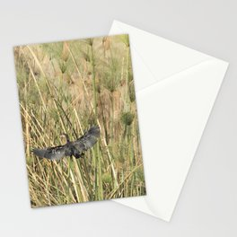 Reed Cormorant Flying Into the Papyrus Stationery Cards