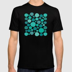 Green Dots Black MEDIUM Mens Fitted Tee