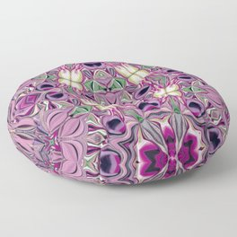 Pink flower party ... Floor Pillow