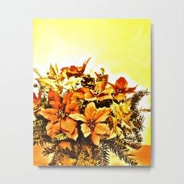 Christmas Bouquet-golden shine Metal Print