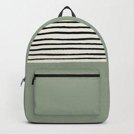 Sage Green x Stripes Rucksack