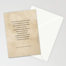 Ralph Waldo Emerson Quote 01 - Typewriter Quote On Old Paper - Literary Poster - Book Lover Gifts Stationery Cards