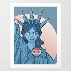 Nasty Lady Liberty Art Print