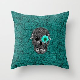 Insect Skull Throw Pillow