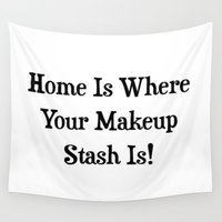 makeup Wall Tapestries featuring MAKEUP by I Love Decor