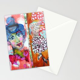 Blue Haired Lady Stationery Cards