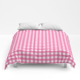 Pink checkered pattern Comforters