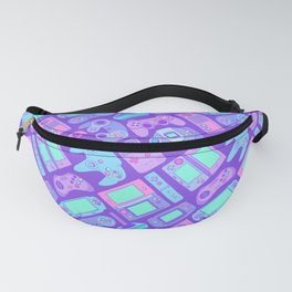 Video Game Controllers in Cool Colors Fanny Pack