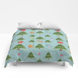 Christmas Elements Christmas Trees Design Comforters