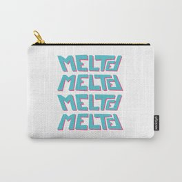 Melted, the solid typography. Carry-All Pouch
