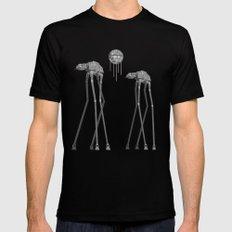 Dali's Mechanical Elephants - Black Sky MEDIUM Black Mens Fitted Tee