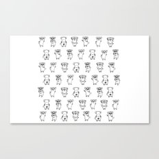 The Dancing Pugs Canvas Print