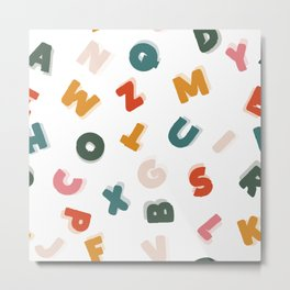 retro alphabet Metal Print