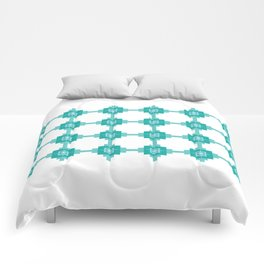 Blue Fretwork Comforters