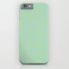 Yellow Pit on Mint /// www.pencilmeinstationery.com iPhone 6s Slim Case