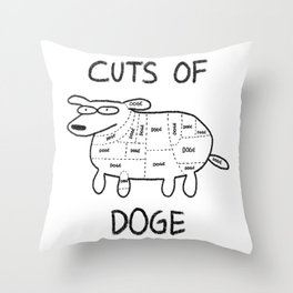 CUTS OF DOGE Throw Pillow