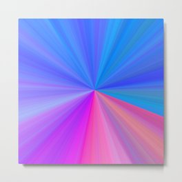 Colorburst in Pinks and Blues Metal Print