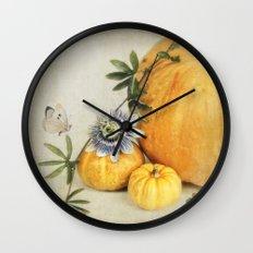 pumpkin & passiflora Wall Clock