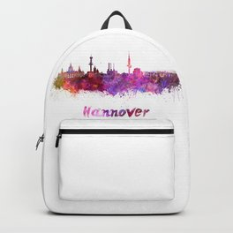 Hannover skyline in watercolor Backpack