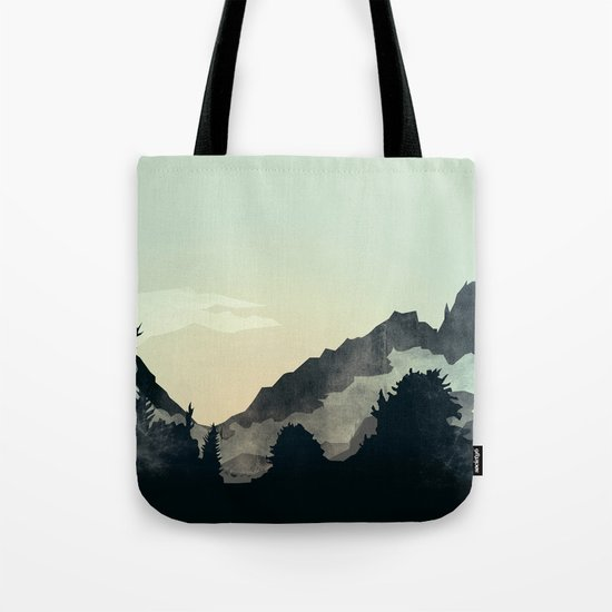 Misty Mountain Tote Bag