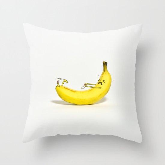 Banana Sock Throw Pillow