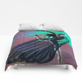 Flying Woman with veil  Comforters