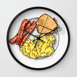 Ron Swanson Breakfast Poster Wall Clock