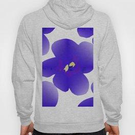 Large Retro Blue Flowers #1 White Background #decor #society6 #buyart Hoody