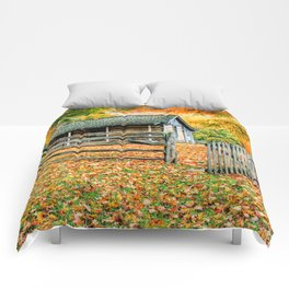 Cabin in the Woods Comforters