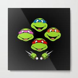 Ninja Turtles Rhapsody Metal Print