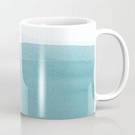 Watercolor Sea   Dip Dye Blues Coffee Mug