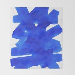 Superwatercolor Blue Throw Blanket