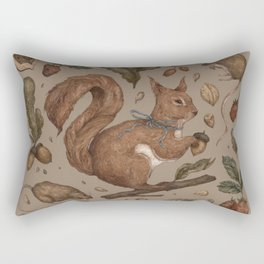 Red Squirrel Rectangular Pillow