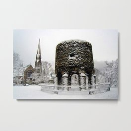 Newport, RI Viking Tower, Touro Park Winter Scene Metal Print