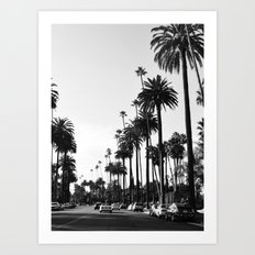 Los Angeles Black and White Art Print