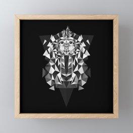 Black and White Tutankhamun - Pharaoh's Mask Framed Mini Art Print