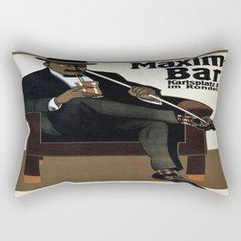 Vintage poster - Maxim-Bar Rectangular Pillow