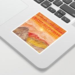 Lines in the mountains XXIV Sticker
