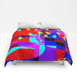 Community Chanukah Menorah Lights Comforters
