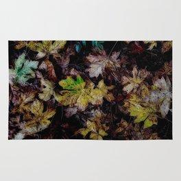 Autumn Patchwork, Maple Leaves Rug