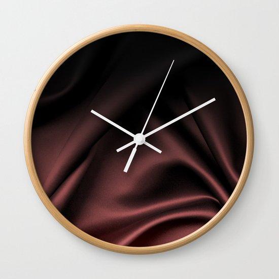 Silk Marsala Ombre Wall Clock