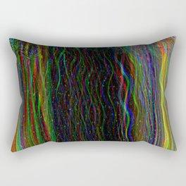 Photo glitch. Television signal fail Rectangular Pillow