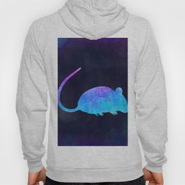 RAT IN SPACE // Animal Graphic Art // Watercolor Canvas Painting // Modern Minimal Cute Hoody