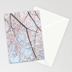 Vintage pink tree Stationery Cards
