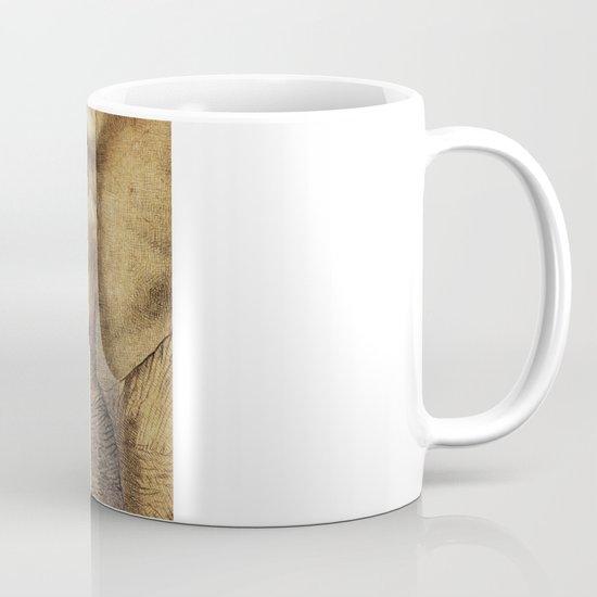 A New Friend (sepia drawing) Mug