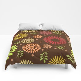 Colorful flower pattern Comforters