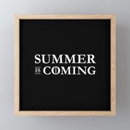 Summer is Coming Framed Mini Art Print